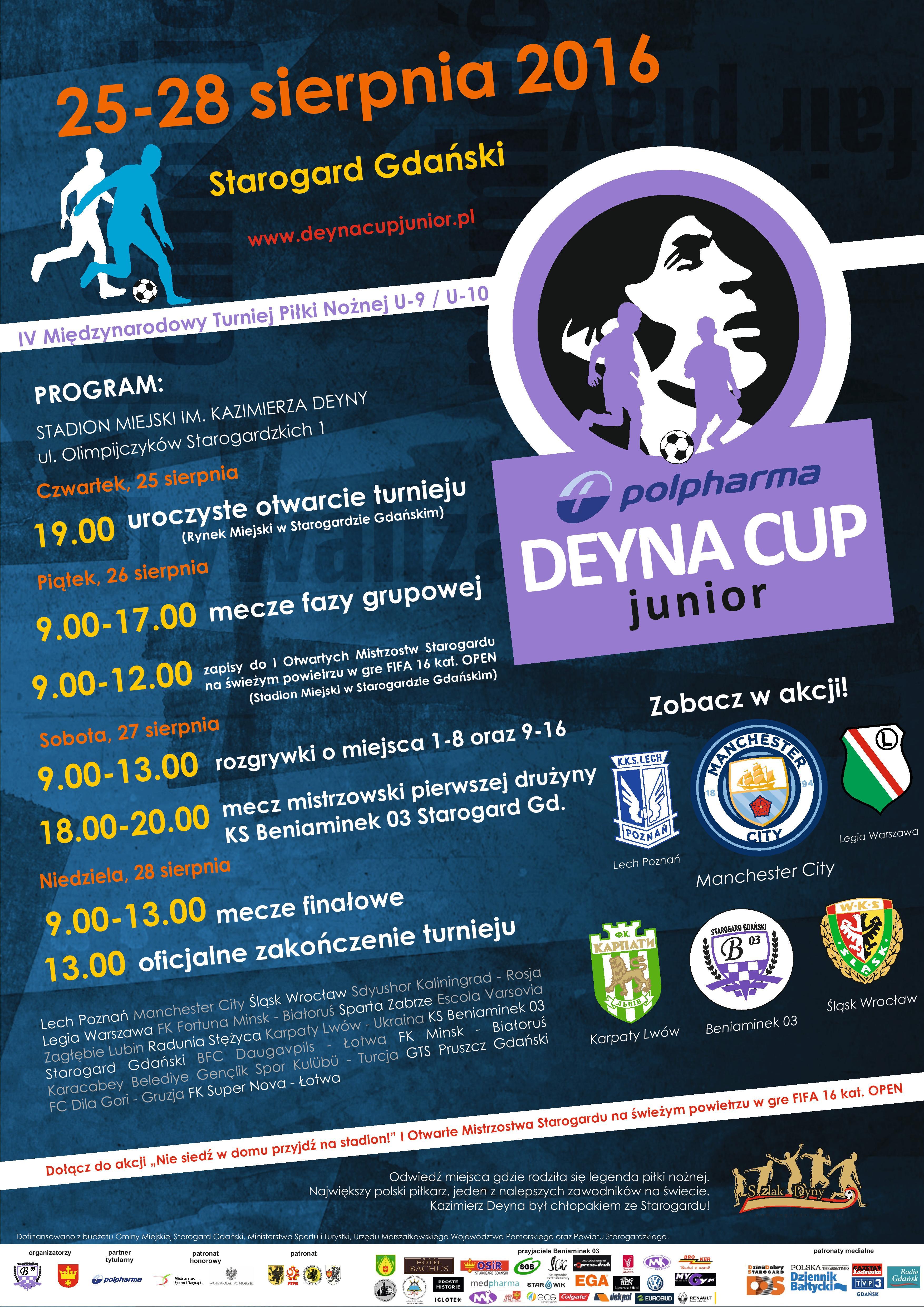 Oficjalny plakat Polpharma Deyna Cup Junior 2016 Starogard Gdański