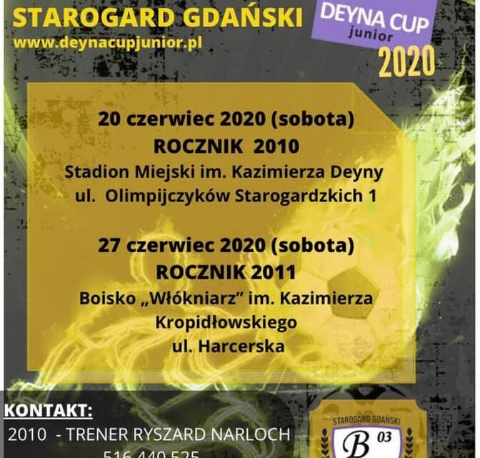 Zapraszamy na dwa turnieje eliminacyjne do turnieju Deyna Cup Junior 2020